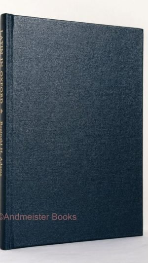 Latin in Oxford: Inscriptioness Aliquot Oxonienses