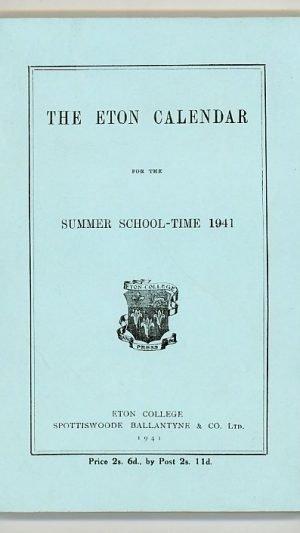 The Eton Calendar for the Summer School-Time 1941