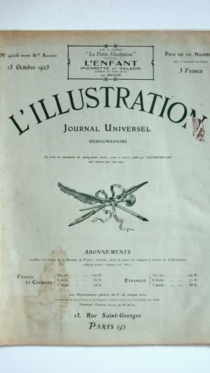 L'Illustration No 4206 13 Octobre 1923