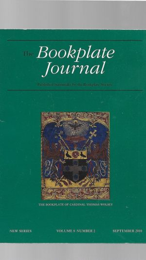 The Bookplate Journal New Series Volume 8 Number 2  September 2010