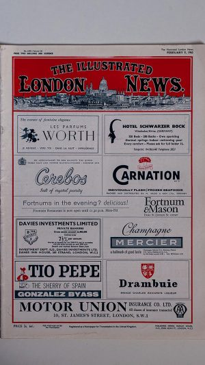 The Illustrated London News No 6445 Volume 242 February 9, 1963