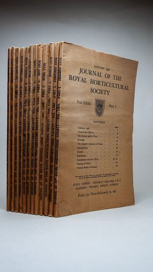Journal of the Royal Horticultural Society Vol. LXIII Part One to Twelve January-December 1938