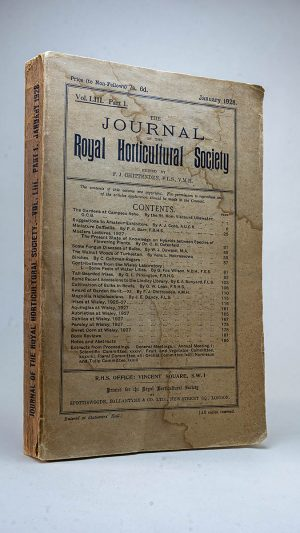 The Journal of the Royal Horticultural Society Vol. LIII Part 1 January and Part 2 July 1928